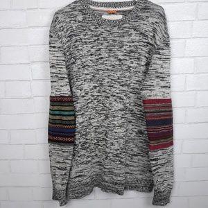 Anthro Koto Woven Sleeve Knit Sweater G45